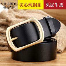 格菱皮具广州皮带工厂专业生产头层牛皮皮带皮带加工厂