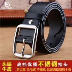 广州皮带厂专业生产制造真皮腰带现货批发来样定制