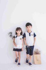 护岛宝贝幼儿园园服定做学生民国风套装夏季儿童纯棉T恤新款