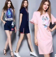 品牌尾货批发折扣款女装韩版连衣裙促销货源一件代发