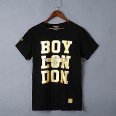 boy大字母款三排字母短袖体恤