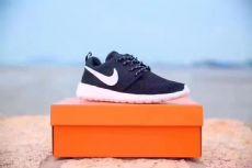 耐克奥运伦敦跑步鞋网面透气情侣鞋 黑白35-45