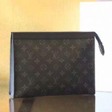 原单新款炭黑色老花图案男士手包 专柜同步手拿包