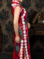 迷红弄影长旗袍