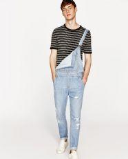 服装加工厂供应男装背带牛仔裤
