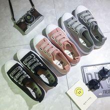 韩版男女帆布鞋厂家直销一件代发