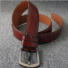 外贸订做皮带水牛纹针扣皮带厂家货源批发