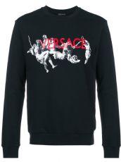 Versace 范思哲 印花字母 男装长袖卫衣 纯棉17新款