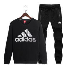 阿迪达斯运动套装男大码休闲服连帽长袖长裤开衫青年运动服两件套