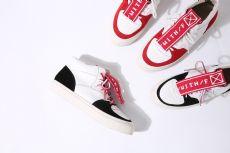 欧洲站17秋冬新款真皮休闲鞋女字母小白鞋拼色圆头高帮平底板鞋