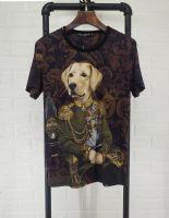 杜嘉班纳Dolce&Gabbana18新款短袖T恤狗丝光棉