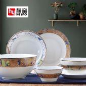 陶瓷餐具套装骨瓷碗盘碟厂家直销礼品批发定制可印logo