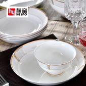 唐山赫窑 厂家批发骨瓷餐具套装陶瓷碗盘碟酒店礼品