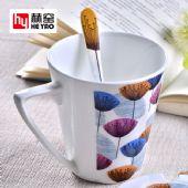 厂家陶瓷马克杯骨瓷v杯办公室彩绘广告定制logo
