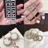 1比1复刻首饰原单银饰品小香耳钉戒指一手货源