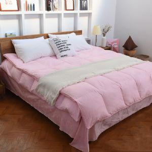 绮缔丝80白鹅绒羽绒被纯棉粉色系列