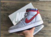 耐克 男高帮板鞋 AH8652 001 银色红标厂家直销一件代发