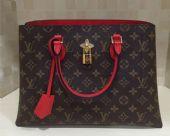 LV TOTE FLEUR手袋专柜新款奢侈品包包免费代理