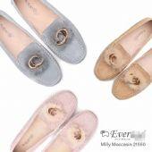 正品EVERugg21550貂毛金属圈豆豆鞋