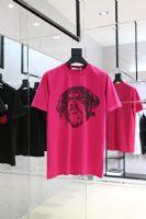 Givenchy 玫红色狗头印花T恤尺码 XXS-L