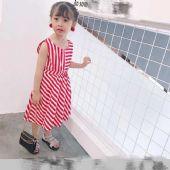 出口专柜正品儿童梭织条纹连衣裙!