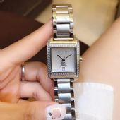 瑞士精品女士手表先锋系列钢带石英手表 方形表盘女表防水