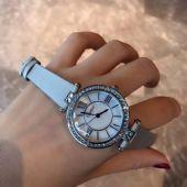 *Catier女士皮带石英手表 镶钻女士商务休闲防水手表