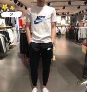 【主推爆款实拍】长裤套装P1202018夏季耐克圆领T恤运动