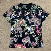 杜嘉班纳Dolce&Gabbana18新款短袖豹子花朵