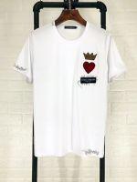高仿男装杜嘉班纳Dolce&Gabbana短袖T恤爱心绣花