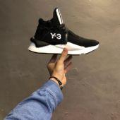 """三本耀司 Y-3 针织凯瓦系列复古百搭老爹鞋""""黑白针织新款"""
