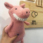 深圳毛绒玩具厂家定制微笑大牙玩偶开心小猪公仔