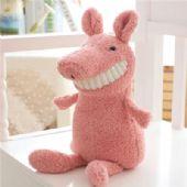 毛绒玩具厂家定制多种微笑露牙动物公仔