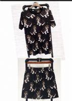 杜嘉班纳Dolce&Gabbana男装套装短袖多狗沙滩裤