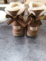 UGG后丝带款女士雪地靴澳洲进口A级羊皮毛一体