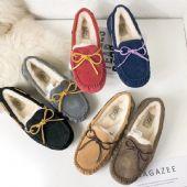 正品UGG专柜版女款豆豆鞋澳洲A羊皮毛一体懒人鞋