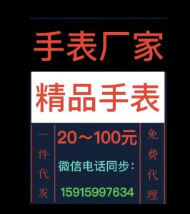 20~100元广州精品手表工厂货源一件代发全国免费代理>图片