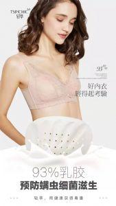 泰国进口轻萃乳胶内衣防螨无钢圈收副乳新加坡原创设计蕾丝文胸