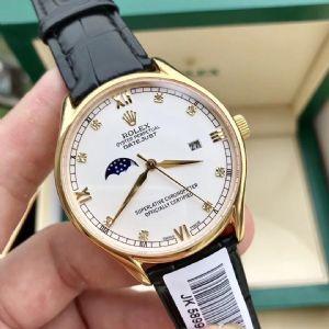 日志系列经典大三针带月相男士全自动机械手表