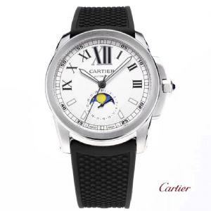 卡历博月相男士全自动机械手表 胶带皮带款手表