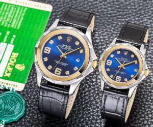 新款情侣机械手表 商务休闲男女士皮带腕表