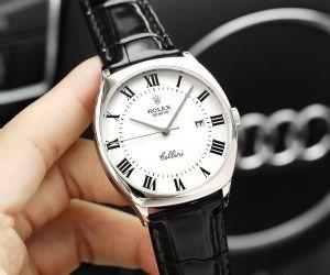 切利尼经典系列男士皮表带全自动机械手表商务休闲男表