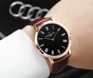 两针超薄男士全自动机械手表 商务休闲男表