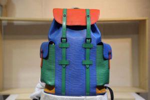 新品CHRISTOPHER 双肩包 〰️N41379蓝橙绿