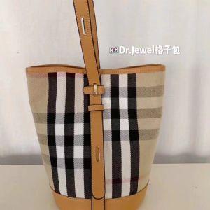 韩国东大门水桶包格纹包格子包单肩包斜挎包手提包女