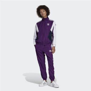 Adidas 三叶草 古着 拼接 复古女子夹克套装