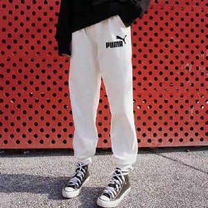 PUMA彪马女裤2019夏季新款裤子白色收口运动长裤休闲裤