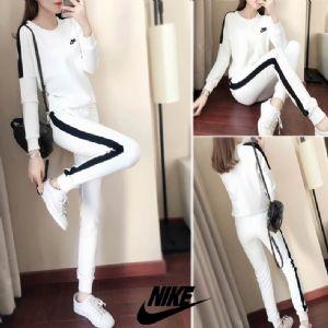 Nike耐克圆领卫衣女情侣套装秋季新款运动长袖休闲长裤女