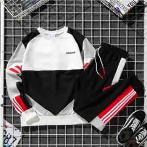 Adidas三叶草 男女拼接撞色夹克外套长裤套装