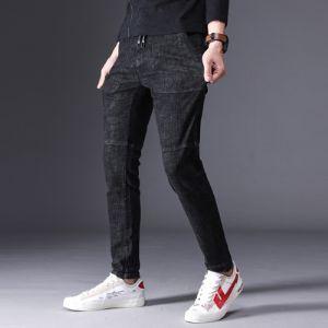 时尚潮牌 牛仔长裤 H8321 黑色